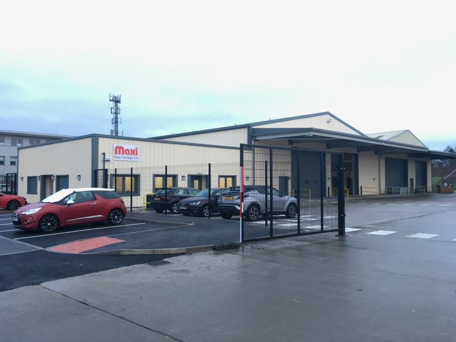 New Maxi Haulage warehouse and office bellshill